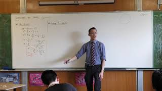 Equation of a Parabola - Vertex Form (Completing the square)