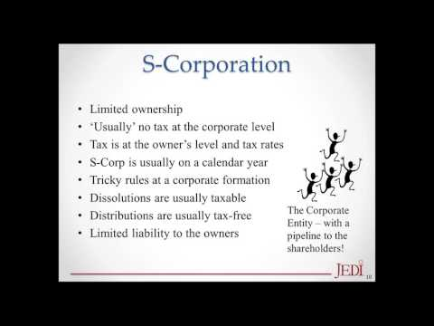 JEDI Webinars - Forms of Business Ownership