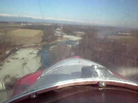 corby starlet cj1 volo sul fiume Pò