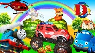 Мультфильмы про машинки игрушки Автобус Тайо Железная дорога поезд мультики для детей Паровоз Томас