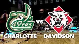 Charlotte 49ers vs Davidson Wildcats, Wednesday on WCCB