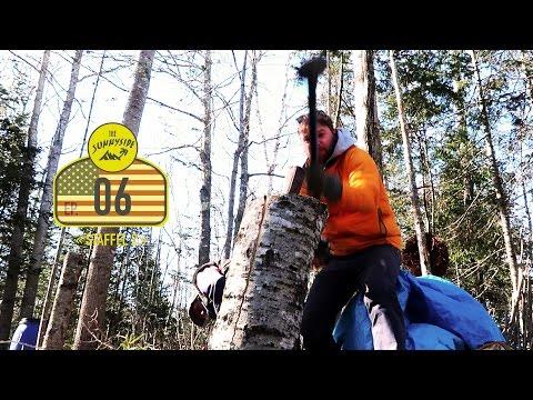 Holzspalten und Quad fahren in Maine | USA | Warten auf Willi
