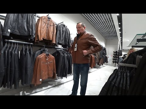 ВЛОГ Кожаные мужские куртки в магазинах Москвы / Примерка / �� 24 февраля 2020 г.