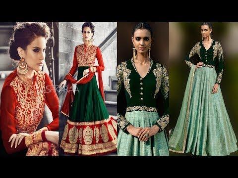Long Anarkali Gown Dress Designs 2017 Part 05