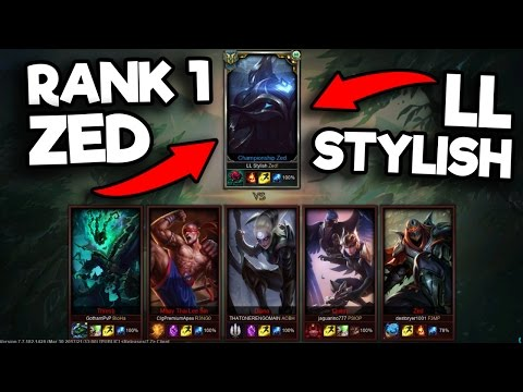 """LL STYLISH"" RANK #1 ZED VS 5 BRONZE PLAYERS (1v5) (UNBELIEVABLE GAME) - League of Legends"