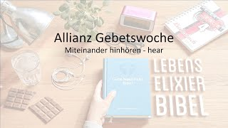 Miteinander hinhören - Allianzgebetswoche - 10.01.2021