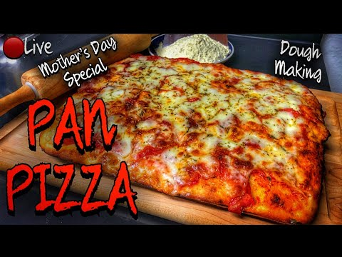 "🔴Live - PAN PIZZA How to make the dough and the pizza in real time! ""Pizza in teglia"""