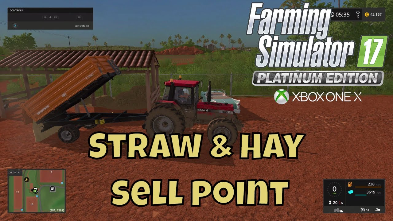 Farming Simulator 17 Hay/Grass/Straw sell point
