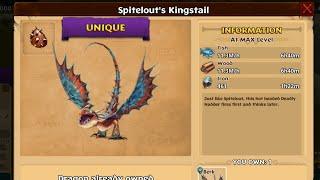 SPITELOUT'S KINGSTAIL Titan Mode Max Level 150 | Dragons: Rise of Berk