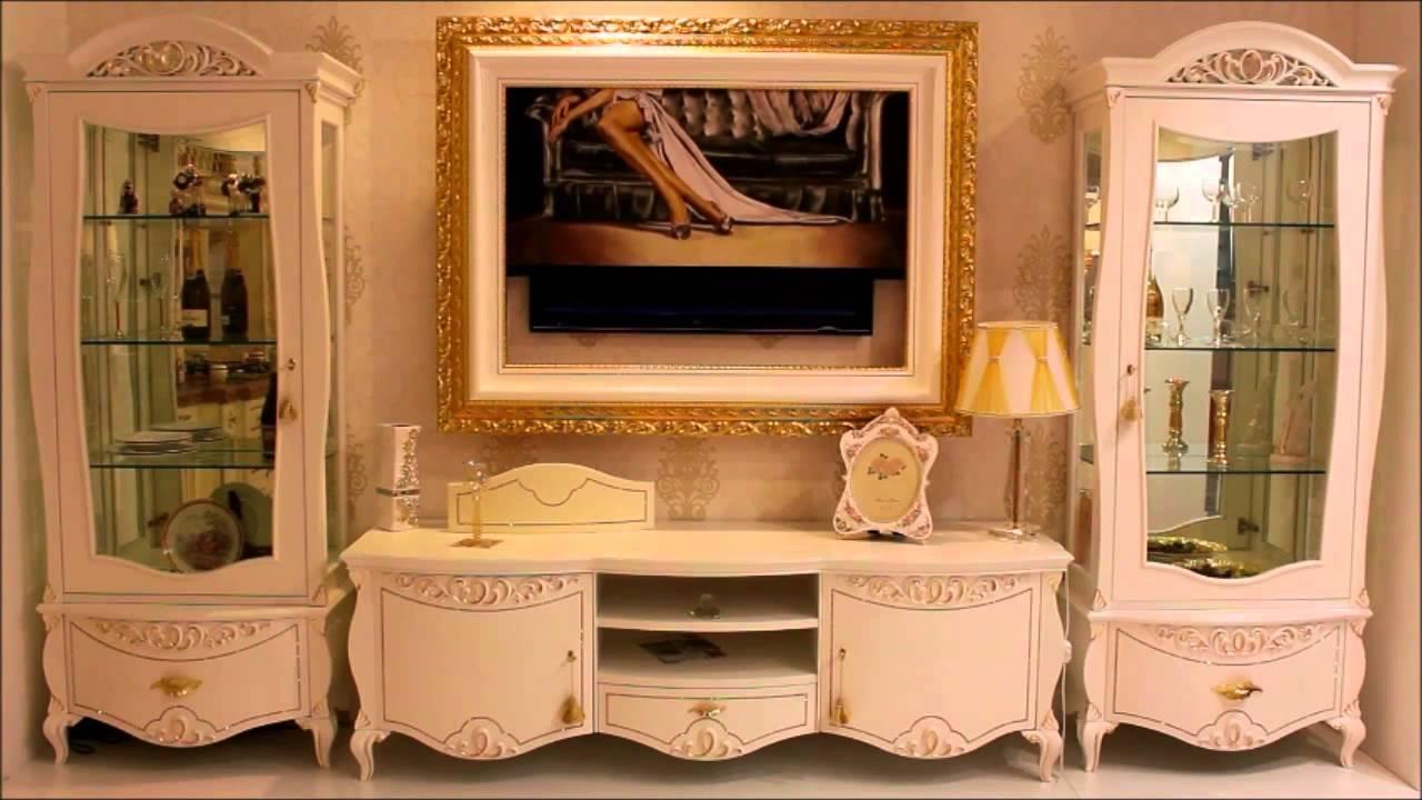 Quadro con telo motorizzato modello corallo classico - Porta televisore classico ...