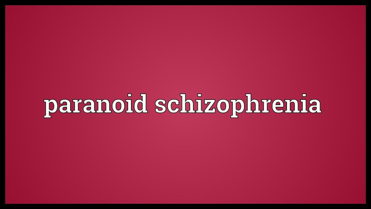 process recording paranoid schizophrenic Paranoia is a thought process that causes you to have an paranoid schizophrenia is a form of paranoid behavior usually occurs due to personality.