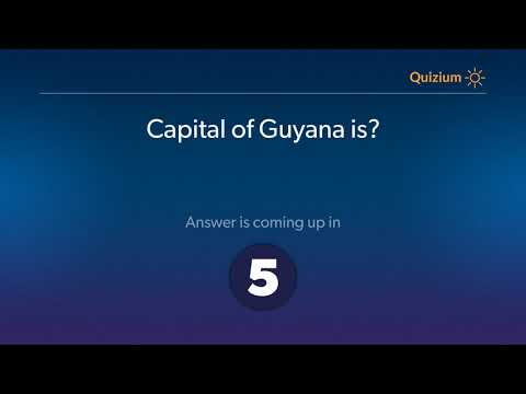 Capital of Guyana is?   Countries and Capitals Quiz