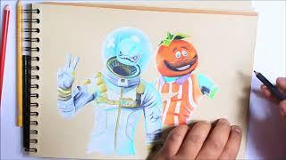 Fortnite: SpeedDrawing Leviatan & Tomato Head skin (Fortnite Drawings)