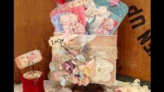 Vintage Valentine gift set tutorial and Giveaway!