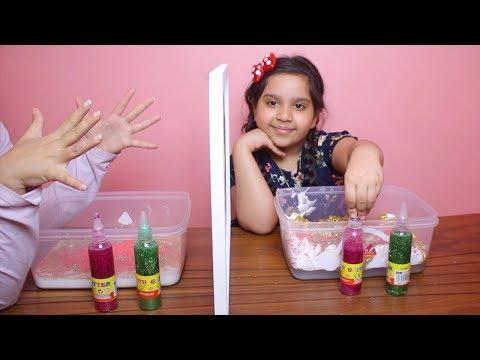 تحدي التوأم بالسلايم !!😱طلعنا متطابقين ؟!  !! Twin Telepathy Slime Challenge