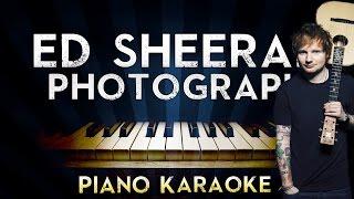 Ed Sheeran - Photograph | LOWER Key Piano Karaoke Instrumental Lyrics Cover Sing Along