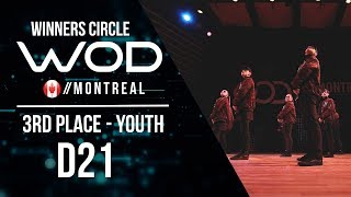 D21 | 3rd Place Youth | World of Dance Montreal Qualifier 2017 | Winners Circle | #WODMTL17