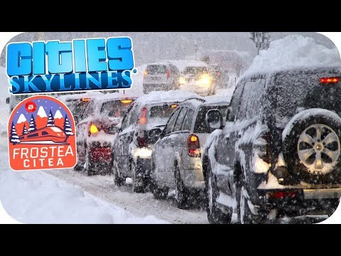 Snowstorm Havoc! Trams to the Rescue? Cities: Skylines #11