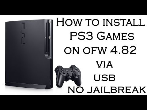 How to install PS3 Games on OFW 4 82 via USB No Jailbreak