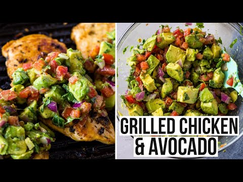 ��Grilled Chicken Breasts with Avocado ��