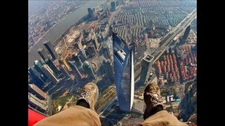 SHANGHAI TOWER TALLEST TOWER in China...second tallest in the world Construction and climbing travel