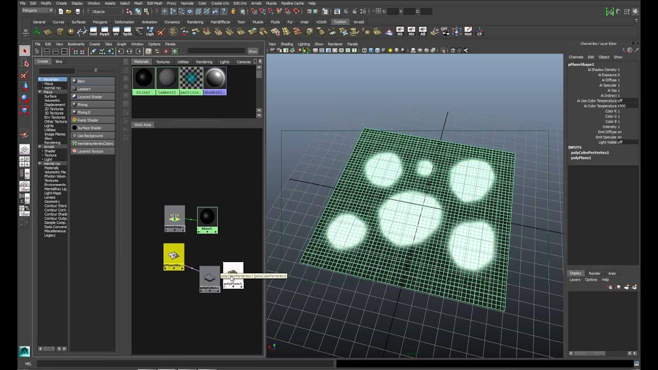 Vertex Color como máscara en Maya-MR - YouTube
