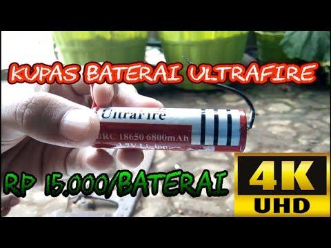 Kupas Baterai Lithium-ion 18650 UltraFire 6800mAh | 2160p / 4K UHD Video