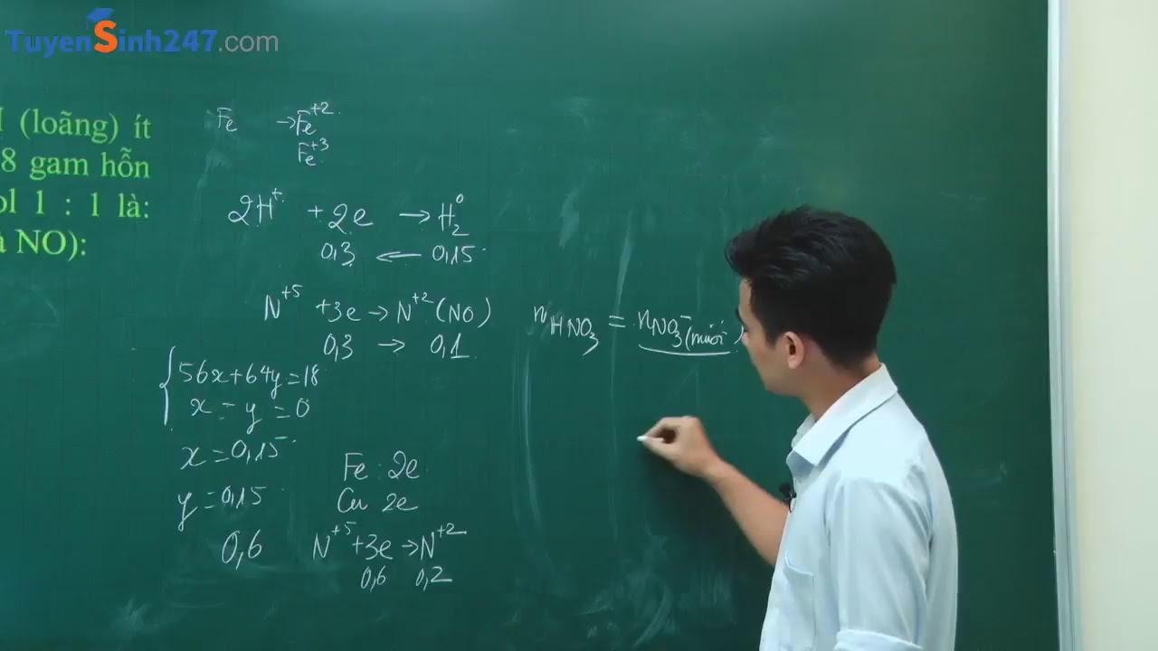 HNO3 – Phương pháp bảo toàn E – Hóa 11 – Giáo viên Đặng Xuân Chất