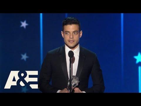 Rami Malek Wins Best Actor in a Drama Series | 2016 Critics' Choice Awards | A&E