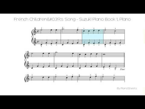 French Children's Song - Suzuki Piano Book 1 [Piano Solo]