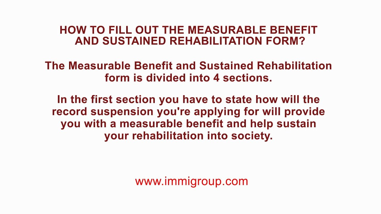 How to fill out the Measurable Benefit and Sustained ...