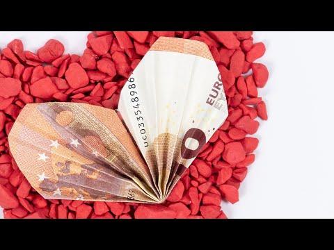 Geld Falten Herz Einfach ❤️ Geldgeschenk Zur Hochzeit