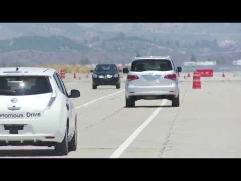 Nissan Autonomous Drive - Overtaking With Oncoming Traffic