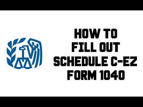 How To Fill Out Schedule C Ez Form 1040 Net Profit Sole