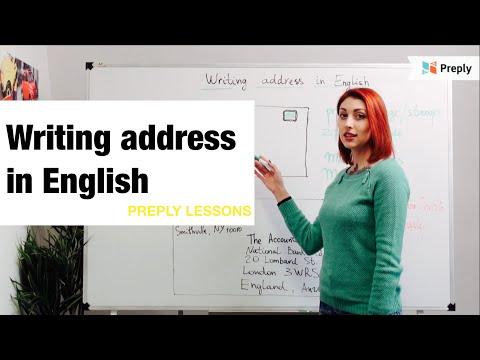 Как писать адрес по английски образец