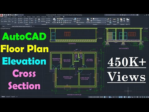 AutoCAD Floor Plan Drawing Tutorial for Beginners - 1