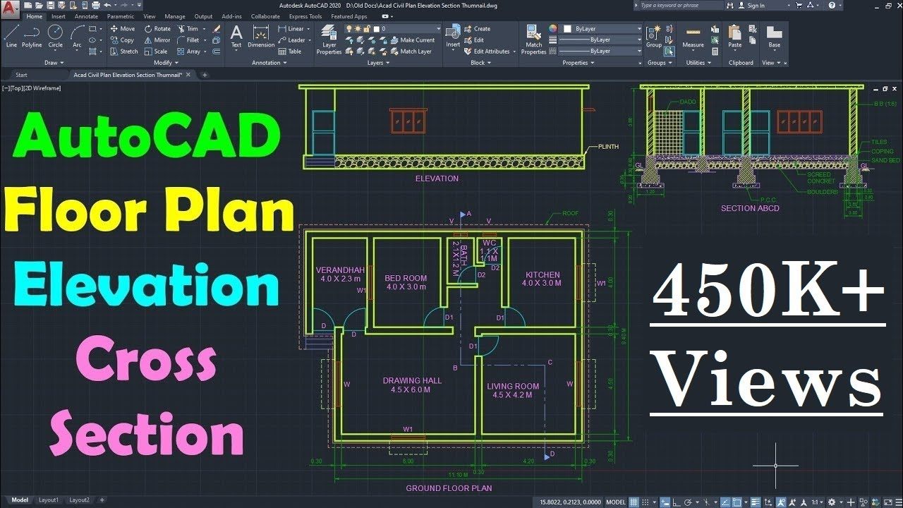 AutoCAD Floor Plan Tutorial For Beginners   1