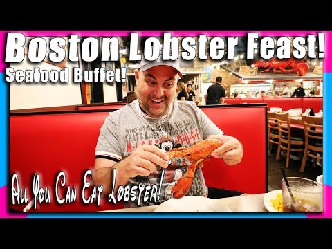 Boston Lobster Feast Full Dining Review! All You Can Eat Maine Lobster! | Seafood Buffet!