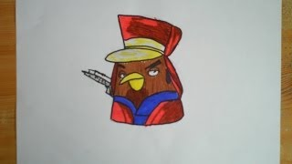 Angry Birds Star Wars 2 - How To Draw Captain Panaka