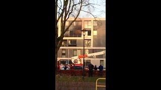 Telefoonbeelden van de brand bij BaLaDe in Waalwijk (Dylan Vandevoordt)