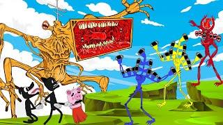 Mega Siren Head War With Piggy, Cartoon Dog +More   Roblox Piggy Animation   GV Studio