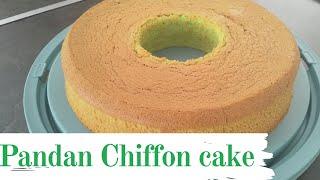 PANDAN CHIFFON CAKE  REBAKE TINTIN RAYNER&#39S RECIPE
