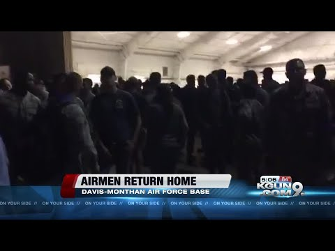 Airmen of 355th Fighter Wing return to Davis-Monthan Air Force Base