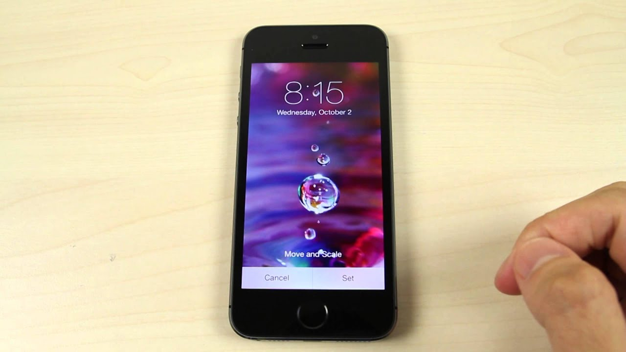 How To Change The Home Screen And Lock Wallpaper On Apple IPhone 5S