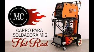Carro para soldadora mig Hot Rod / Welding cart Hot Rod style.