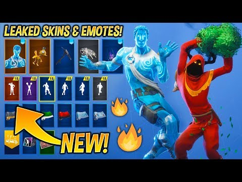*NEW* Leaked Fortnite Skins & Emotes..! (Christmas Raven, Love Ranger, Red Knight, Cheer Up..)