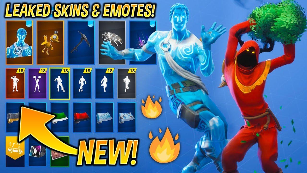 New Leaked Fortnite Skins Emotes Christmas Raven Love Ranger