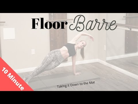 10 Min Floor Barre Workout: arms, core, glutes- Bennie Barre