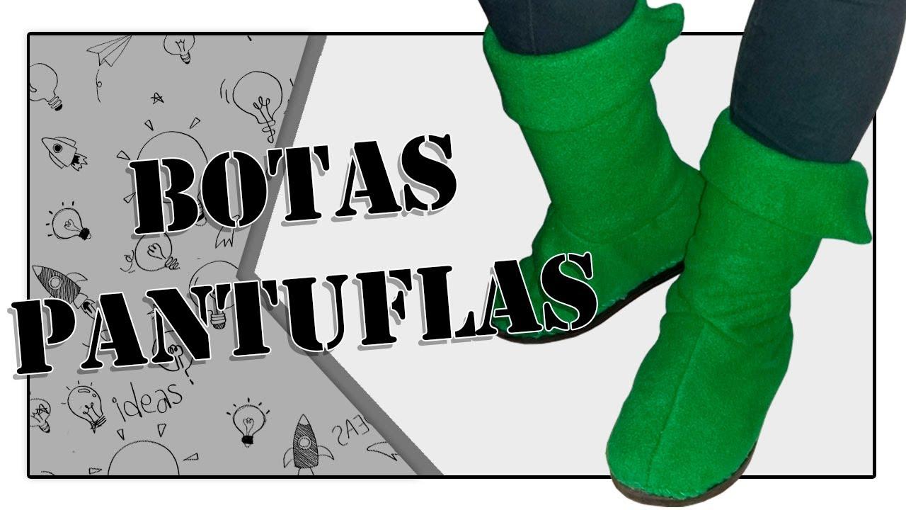 Como hacer unas Bota Pantufla caseras y muy sencillas || DIY || Una ...