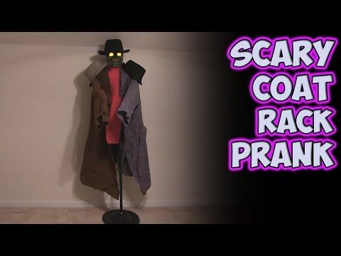 Scary Coat Rack Prank